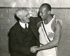 Charles Riley and Jesse Owens, 1936 (Photo location: 102-28)